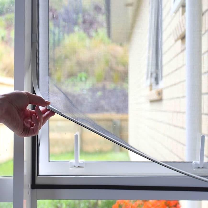 Kanon Självhäftande myggnät till fönster med kardborre - Sparnet.se AT-35